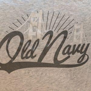Women's Large Old Navy Grey T-shirt